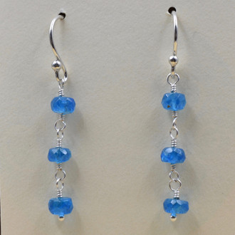 Apatite 3 Drop Earrings