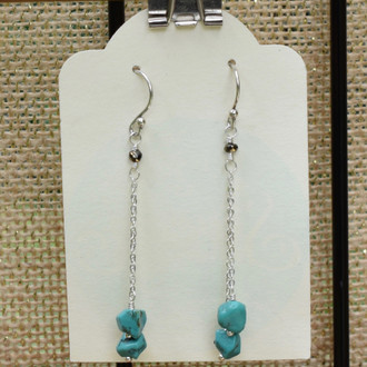 Turquoise Double Drop Earrings