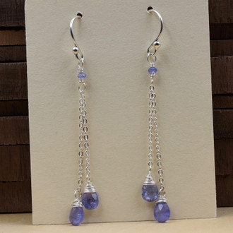 Tanzanite Double Drop Earrings