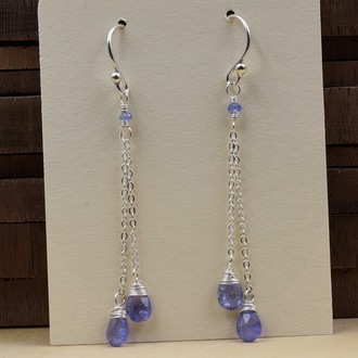 Tanzanite Double Drop Earrings