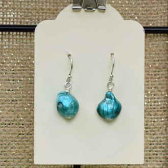 Turquoise Pearl Teardrop Earrings