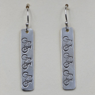 Bike Strip Earrings