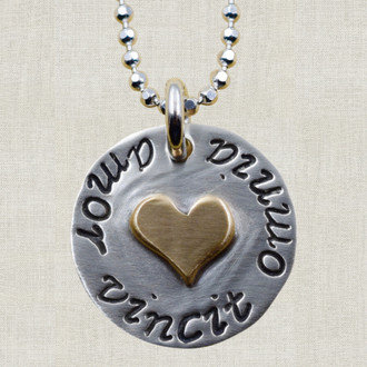 Amor Vincit Omnia (Love Conquers All) Necklace