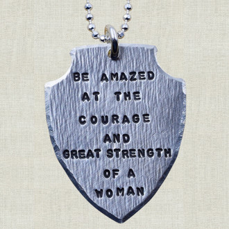 Be Amazed Shield Necklace