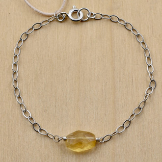 Citrine Single Nugget Bracelet