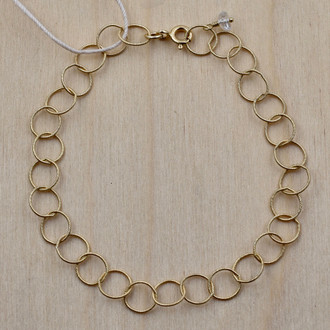 Gold Fill White Topaz Circle Bracelet