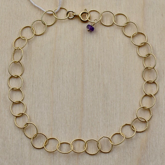 Gold Fill Amethyst Circle Bracelet