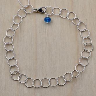 Silver Apatite Circle Bracelet