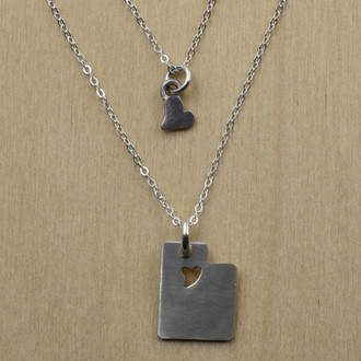 Utah Piece of my Heart Necklace