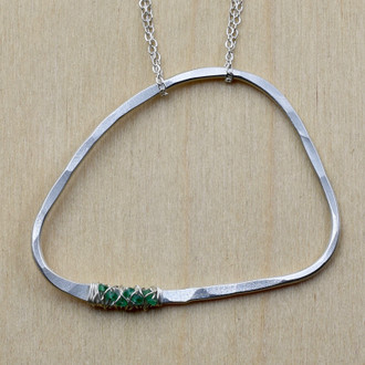 Emerald Life Circle Necklace