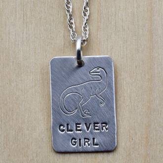 Clever Girl Tag Necklace