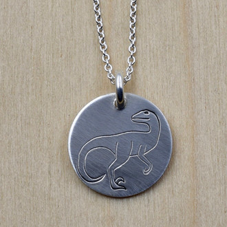 Velociraptor Charm Necklace