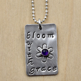 Bloom With Grace Amethyst Necklace
