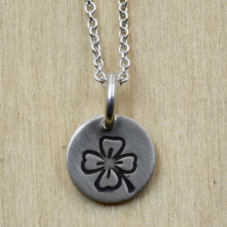 Clover Tag Necklace