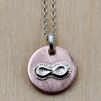 Mini Infinity On Copper Necklace