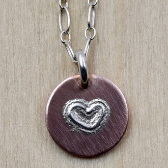 Mini Heart On Copper Necklace