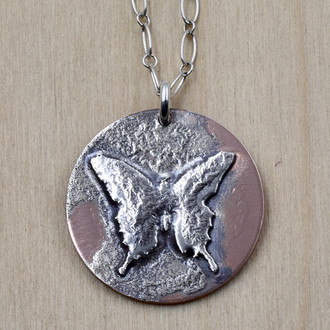 Melty Butterfly Necklace
