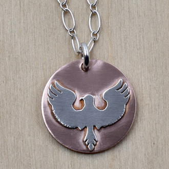 Eagle Wings On Copper Necklace