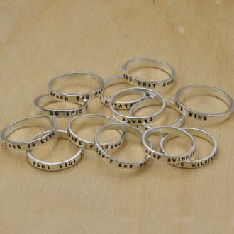 Custom Stamped Rings
