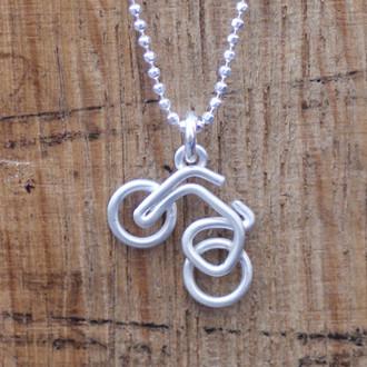 Wire Bike Necklace