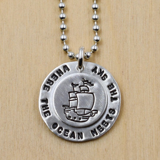Where The Ocean Meets The Sky Necklace