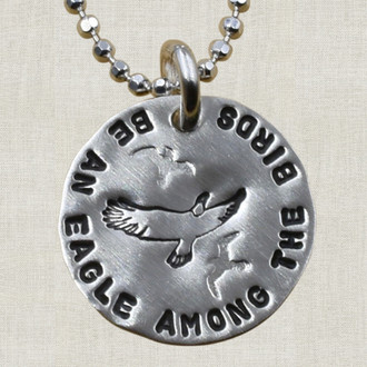 Be An Eagle Among The Birds Necklace