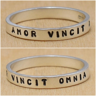 Amor Vincit Omnia (Love Conquers All) Ring