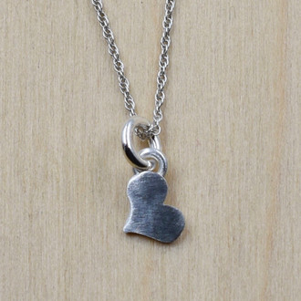 Handcut Mini Heart Necklace