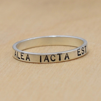 Alea Iacta Est (The Die Is Cast) Handstamped Ring