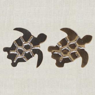 Sea Turtle Handcut Stud Earrings