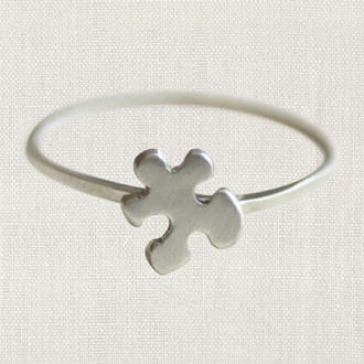 Autism Awareness Puzzle Piece Rings
