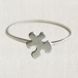 Autism Awareness Puzzle Piece Rings