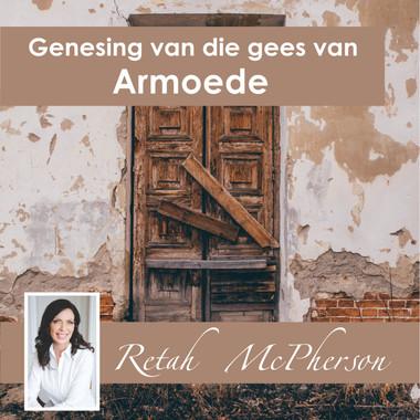 """Retah McPherson's Afrikaans CD teaching about """"Genesing van die gees van Armoede."""" This is an Afrikaans CD teaching. This CD will be send to you via postal service or FedEx, it depends which shipping method you choose."""