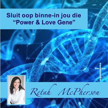 """Retah McPherson's Afrikaans CD teaching about """"Sluit oop binne-in jou die Power & Love Gene."""" This is an Afrikaans CD teaching. This CD will be send to you via postal service or FedEx, it depends which shipping method you choose."""