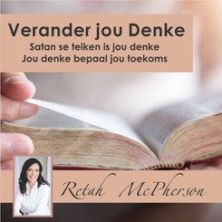 "Retah McPherson's Afrikaans MP3 teaching about ""Verander jou denke."" This is an Afrikaans MP3 teaching. This product you will download directly after purchase. No CD will be shipped to you."