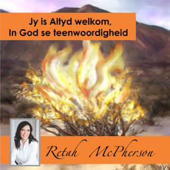 """Retah McPherson's Afrikaans MP3 teaching about """"Jy is altyd wekom in God se teenwoordigheid."""" This is an Afrikaans MP3 teaching. This product you will download directly after purchase. No CD will be shipped to you."""