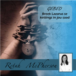 """Retah McPherson's Afrikaans MP3 teaching about """"Gebed - Breek Lasarus se kettings in jou saad."""" This is an Afrikaans MP3 teaching. This product you will download directly after purchase. No CD will be shipped to you."""