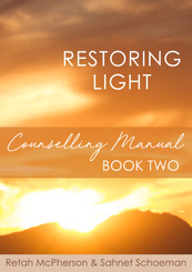 "This is the second manual in the Restoring Light series. John 1:4 In Him was Life and the Life was the Light of men. We are thankful to our Father for teaching, guiding and training us. We believe that it is God's time for the release of this book – for restoration is God's priority. This is not the ""end all and be all"" manual for inner healing. We realize that we all know in part. This book is a result of years of seeking His face for the answers to our brokenness and captivity. We are confident that this book will help to restore you to Sonship and will give you some answers to the areas that just did not want to yield in breakthrough. This book is not a mere research book based on facts. We walked through, prayed through, fasted through each part and saw His power, love and freedom manifest in our lives as our understanding increased. This book is not a self-help manual, it is a counsellor's manual. It should be used in the process of inner healing as you walk with someone who can take your hand and prayerfully trust God for healing. We bless your journey of healing as we know that the restoration of the light of life in you is very dear to the Father's heart. He alone is able to save to the uttermost!  Retah McPherson and Sahnet Schoeman"