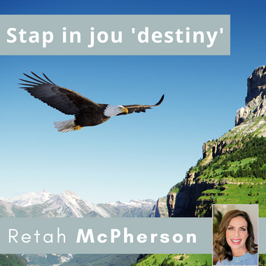 """Retah McPherson's Afrikaans MP3 teaching about """"Stap in jou destiny."""" This is an Afrikaans MP3 teaching. This product you will download directly after purchase. No CD will be shipped to you."""