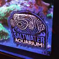 SaltwaterAquarium.com Logo Sticker on Clear (Limit 1 Free Item Per Order) (FREE OVER $50) - SAQ.com