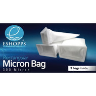 "Rectangle Filter Sock 7"" 300 Micron (3 Pack) - Eshopps"