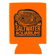 SaltwaterAquarium.com Orange & Black Logo Beer Coolie (Limit 1 Free Item Per Order) (FREE OVER $50)