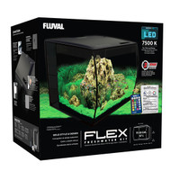 "FLEX 57L 15 Gallon Aquarium Kit - BLACK (16"" x 15"" x 15"")  - Fluval"