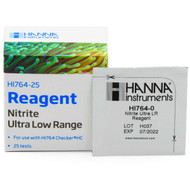 HI764-25 Nitrite Ultra Low Range Reagent (25 Tests) - Hanna Instruments