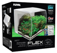 "FLEX 57L 15 Gallon Aquarium Kit - WHITE (16"" x 15"" x 15"")  - Fluval"