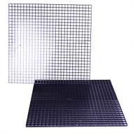 "FragGrid Black Egg Crate 36"" x 18"" Total (2x pc 17.5"" x 17"") - Deep Blue"