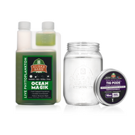 3000+ Tig Live Copepods & OceanMagik Phyto Combo Pack (16 oz of each) - Algae Barn
