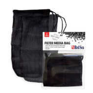 "2 Pack - Reusable Black Mesh Filter Media Bag (10"" x 5.5"") - Red Sea"