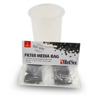 "4"" Filter Media Cup (CLEAR) w/ Red Sea Mesh Media Bags - Generic"