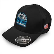 Black FlexFit Delta 180 Embroidered Hat (L/XL) - SaltwaterAquarium.com